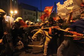 greek protests 2014
