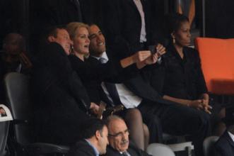 Mandela funeral selfie