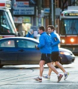 shorts in Toronto winter