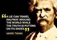 a lie can travel