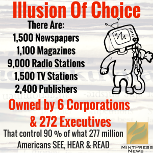 main stream media owned by 6 corps