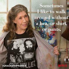 Grace and Frankie no bra
