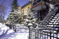 montreal winter outdoor-staircases-