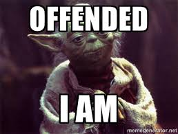 yoda offended