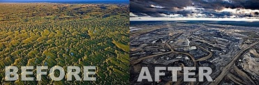 tarsands before after