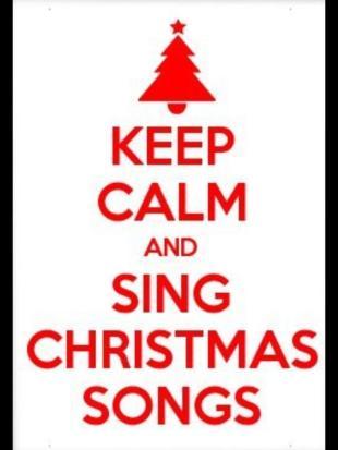 keep calm xmas songs