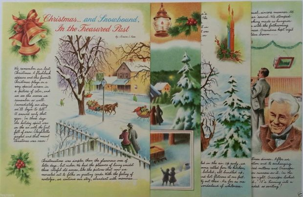 xmas and snowbound n the treasured past