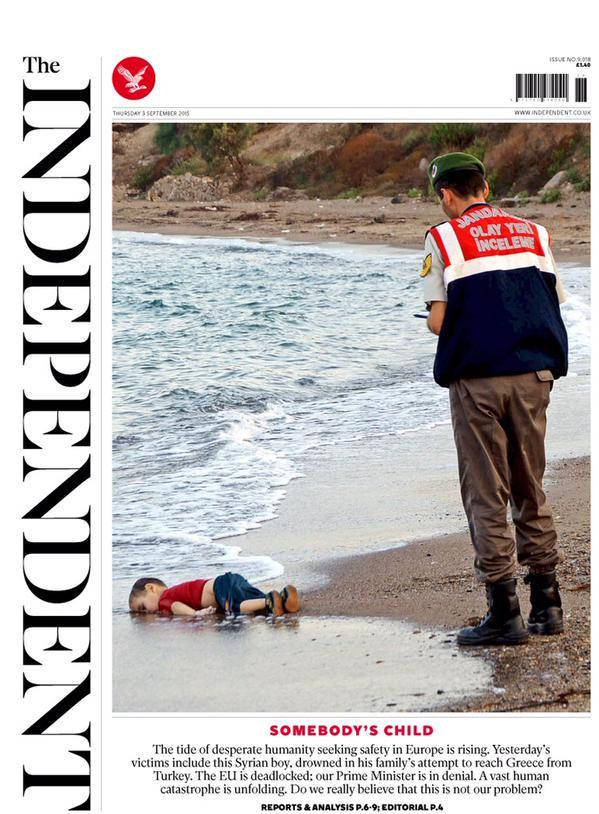 dead syrian boy on beach The Independent