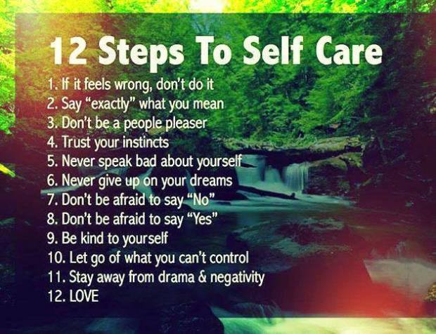 12 steps to self care