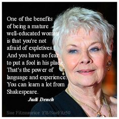 mature woman judi dench