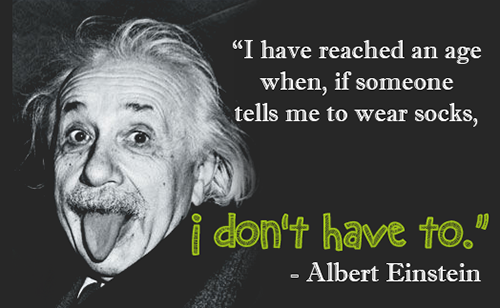 einstein no socks quote