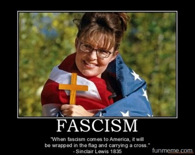 wrapped in a flag Palin