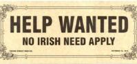 No Irish need apply sign