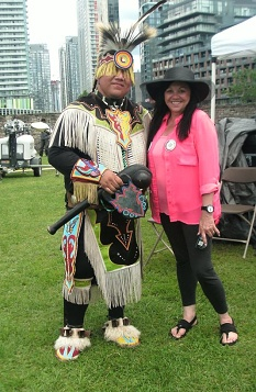 rox at pow wow June 2017 with dancer