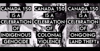 Canada150 protest