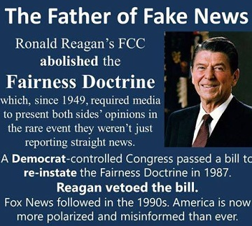 fairness doctrine Reagan