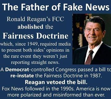fairness doctrine Reagan