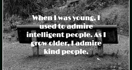 admire kind people