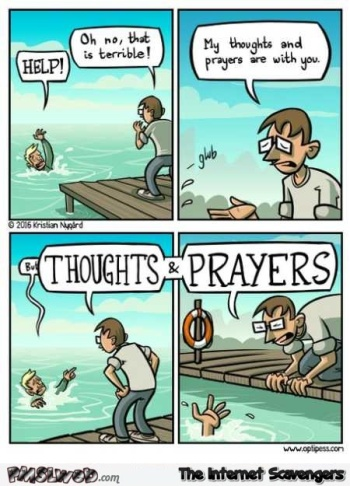 thoughts and prayers cartoon