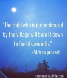 child will burn down the village