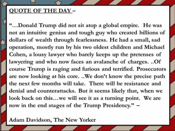 new yorker quote Trump end days