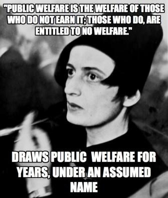 ayn rand welfare