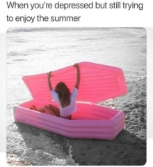 beach coffin