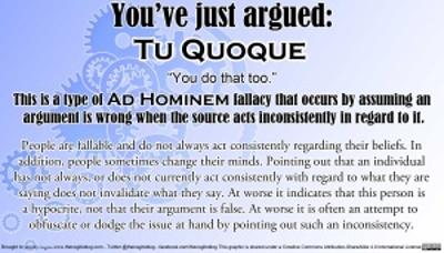 Tu-Quoque WhatAbout