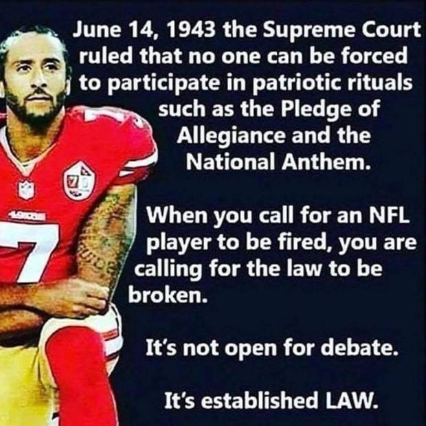 law on kneeling for flag