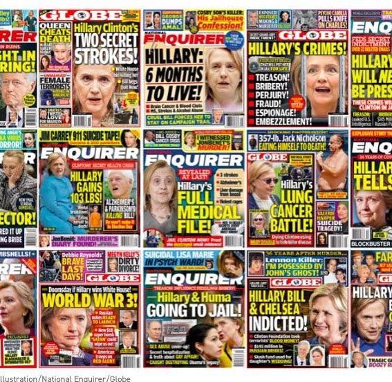 national enquirer hillary covers