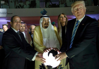 trump and saudi orb