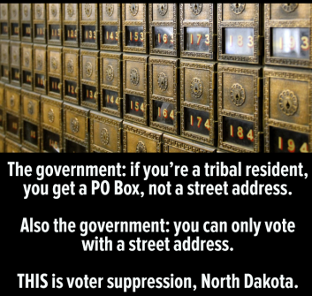voting right PO Box Oct 2018 N Dakota