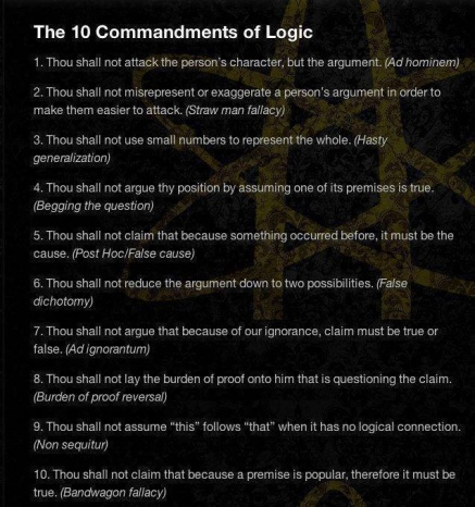 10 commandments of logic