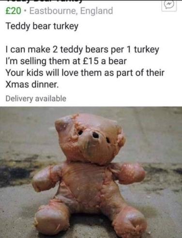 hall 2018 teddy bear turkey