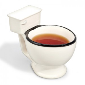 novelty tea cut toilet