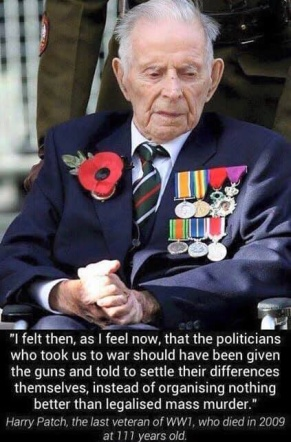 veteran Remembrance Let politicians war