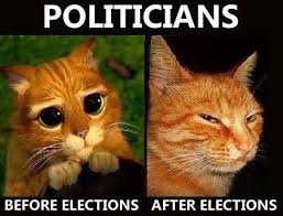 politicians before and afer