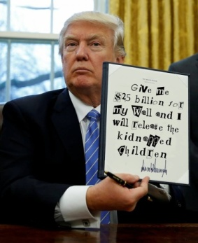 trump wall kidnapped children
