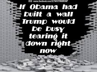 trump would have torn down an obama wall
