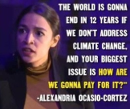 world will end in 12 years AOC