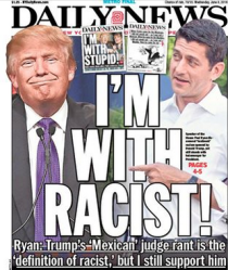 trump I'm with racists