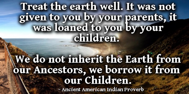 we borrow the earth from our children
