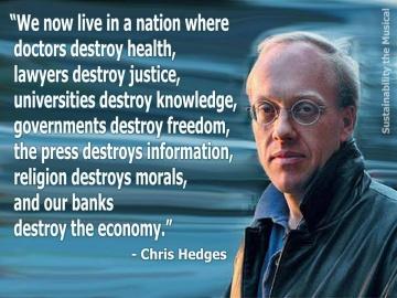 chris hedges quote