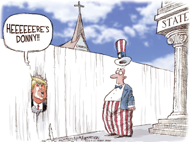 trump separation of church and state