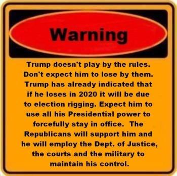 trump won't leave office